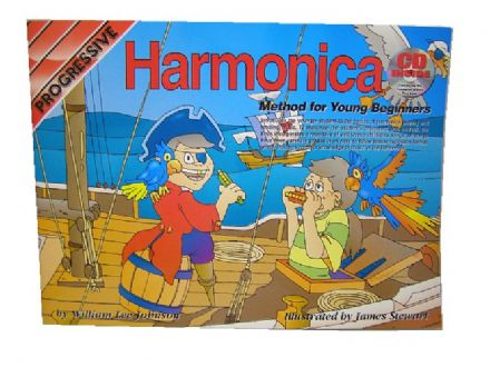 Progressive Harmonica Method for Young Beginners Book & CD 153269G